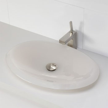 Decolav 2803-MST Oval Above Counter Resin Lavatory - Mist