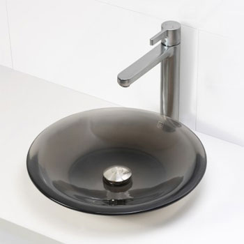 Decolav 2804-SHA Round Above Counter Resin Lavatory - Shadow