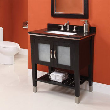 Decolav 5264-BKA Briana Vanity with Terrazzo Countertop - Black