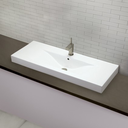 DecoLav 1466-CWH Cityview Main Vessel Sink with Single Faucet Hole - White