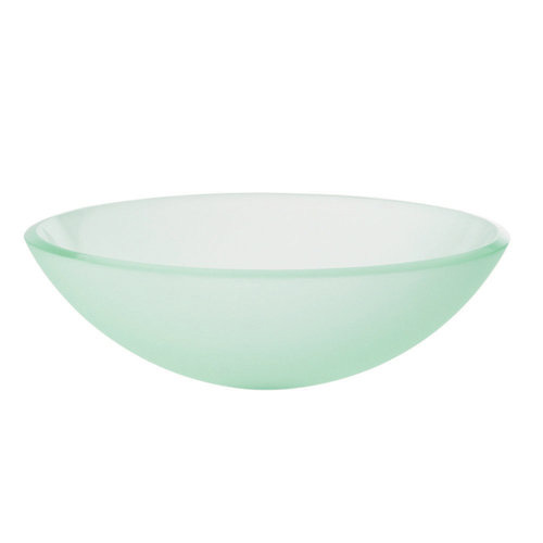 DecoLav 1597T-WH Translucence Vessel Sink - Frosted Glass