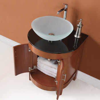 DecoLav 5645-CW Haddington Vanity with Black Granite Top - Cherry