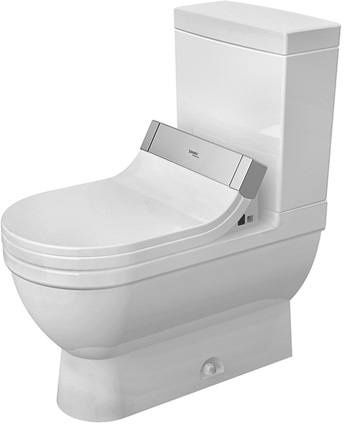 Duravit 2125010000 Starck 3 Two-piece Elongated Toilet Bowl Only - White