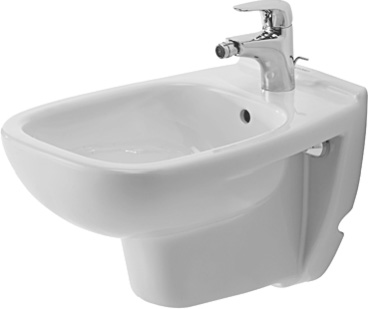 Duravit 22361500002 D Code Wall Mounted Bidet - White