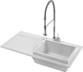 Duravit 7510100027 Starck K Kitchen Sink - White