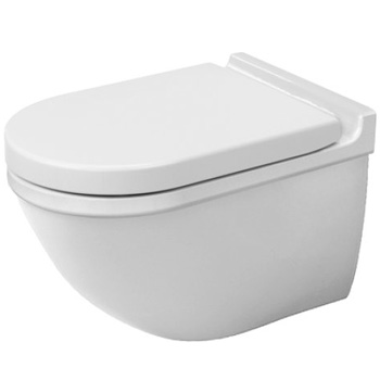 Duravit 2226090092 Starck 3 Bowl Only Elongated Toilet, Less Seat - White