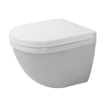 Duravit 222709 Starck 3 Toilet Wall-Mounted Compact Toilet - White