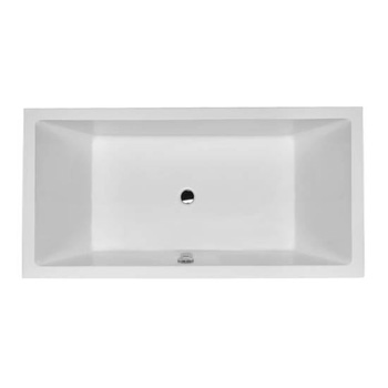 Duravit 700052000000090 Starck X Built In Soaker Tub with Dual Backrest Slopes - White