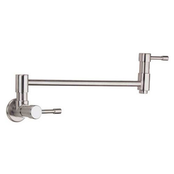 Danze D205012SS Melrose Double Handle Wall-Mount Pot Filler - Stainless Steel