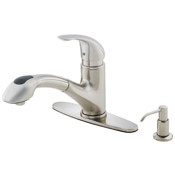 Danze D454612SS Melrose Contemporary Single Handle Pull-Out Kitchen Faucet - Stainless Steel
