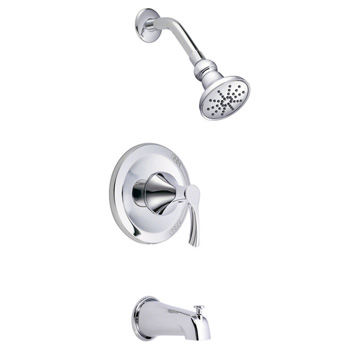 Danze D503022T Antioch Tub and Shower Trim Package with Single Function Shower Head - Chrome
