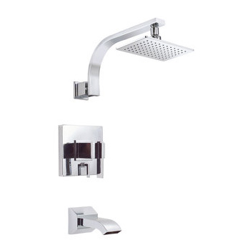 Danze D510044T Sirius Tub and Shower Trim Package with Single Function Rain Shower Head - Chrome