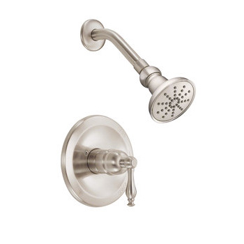 Danze D520655BNT Sheridan Shower Trim Package with Single Function Shower Head - Brushed Nickel