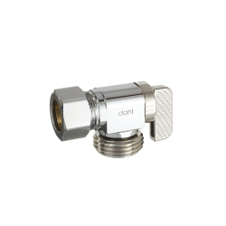 Dahl 211-33-04 5/8 OD Comp x Male Hose Angle Valve - Chrome