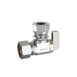 Dahl 611-33-L5 5/8 OD Comp X 1/2 or 7/16 OD Slip Joint Angle Valve - Chrome