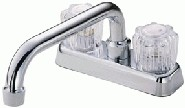 Danze D100401 Melrose Two Acrylic Handle Centerset Laundry Faucet - Chrome