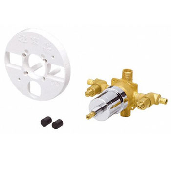Danze D112010BT Single Control Pressure Balance Mixing Valve with Stops - Rough Brass