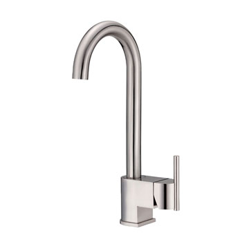 Danze D151542SS Como Single Handle Bar Faucet Stainless Steel