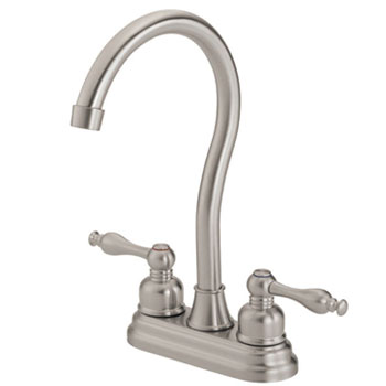 Danze D153555SS Sheridan Two Handle Bar Faucet - Stainless Steel