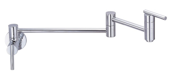 Danze D205058 Parma Double Handle Wall Mount Pot Filler - Chrome