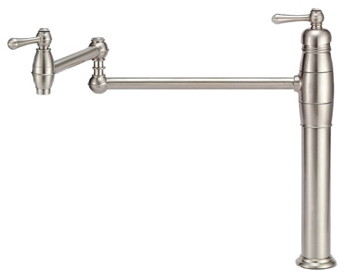 Danze D206557SS Opulence Double Handle Deck Mount Pot Filler - Stainless Steel