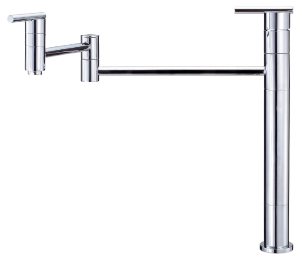 Danze D206558 Parma Double Handle Deck Mount Pot Filler - Chrome