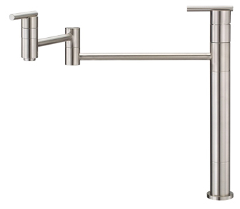 Danze D206558SS Parma Double Handle Deck Mount Pot Filler - Stainless Steel