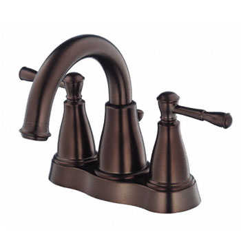 Danze D301015BR Eastham Two Handle Centerset Lavatory Faucet with 50/50 Pop-Up Drain - Tumbled Bronze