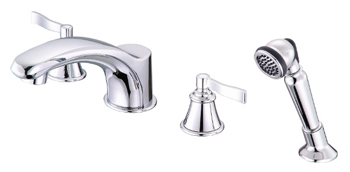 Danze D301725 Aerial Roman Tub Faucet with Soft Touch Personal Shower - Chrome
