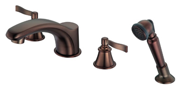 Danze D301725RB Aerial Roman Tub Faucet with Soft Touch Personal Shower - Oil Rub Bronze