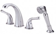 Danze D301771 Plymouth Roman Tub Faucet With Soft Touch Personal Shower - Chrome