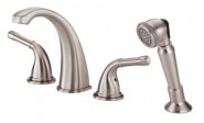 Danze D301771BN Plymouth Roman Tub Faucet With Soft Touch Personal Shower - Brushed Nickel