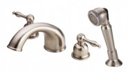 Danze D302755BN Sheridan Roman Tub Faucet with Soft Touch Personal Shower - Brushed Nickel