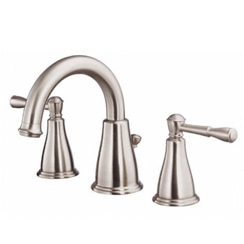 Danze D304015BN Eastham Two Handle Widespread Lavatory Faucet with Pop-Up Drain - Brushed Nickel
