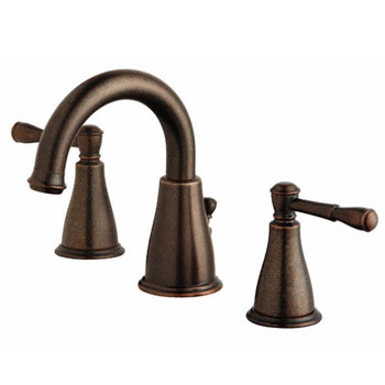 Danze D304015BR Eastham Two Handle Widespread Lavatory Faucet with Pop-Up Drain - Tumbled Bronze