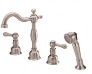 Danze D306757BN Opulence Roman Tub Faucet With Soft Touch Personal Shower - Brushed Nickel