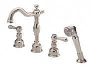Danze D306757PNV Opulence Roman Tub Faucet with Soft Touch Personal Shower - Polished Nickel