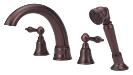 Danze D307740RB Fairmont Roman Tub Faucet with Soft Touch Personal Shower - Oil Rub Bronze