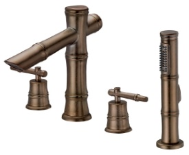 Danze D307745RBD South Sea Roman Tub Faucet with Soft Touch Personal Shower - Distressed Bronze