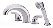 Danze D309711 Melrose Roman Tub Faucet with Soft Touch Personal Shower - Chrome