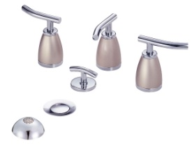 Danze D326454CSN Sonora Bidet Faucet - Chrome w/ Satin Nickel Accents