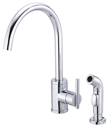 Danze D401558 Parma Single Handle High-Rise Kitchen Faucet with Spray - Chrome
