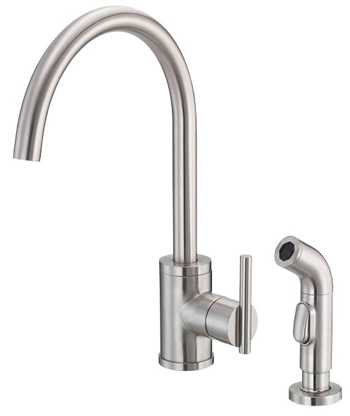 Danze D401558SS Parma Single Handle Kitchen Faucet with Spray - Stainless Steel
