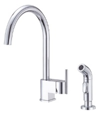 Danze D404444 Como Single Handle Kitchen Faucet with Side Spray - Chrome
