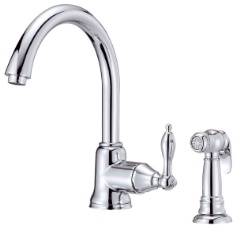 Danze D405040 Fairmont Single Handle Kitchen Faucet with Spray - Chrome