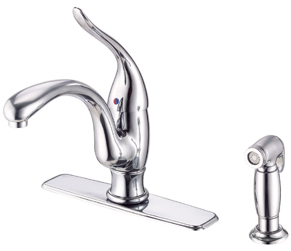 Danze-D405521-Antioch-Single-Handle-Kitchen-Faucet-with-Spray---Chrome