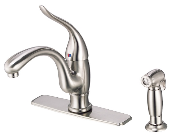 Danze D405521SS Antioch Single Handle Kitchen Faucet With Spray   Stainless  Steel
