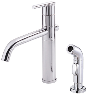 Danze D405558 Parma Single Handle High-Rise Kitchen Faucet with Spray - Chrome