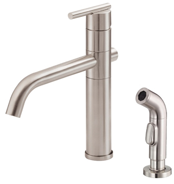 Danze D405558SS Parma Single Handle High Rise Kitchen Faucet With Spray    Stainless Steel