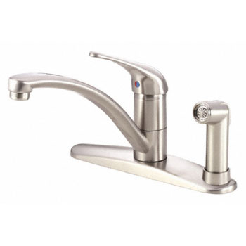 Danze D405612SS Melrose Single Handle Kitchen Faucet with Matching Spray - Stainless Steel